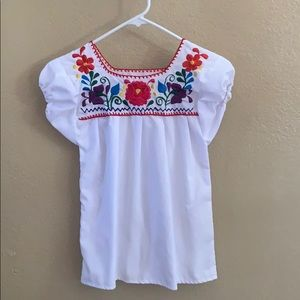 Authentic Mexican Embroidered Little Girl Top